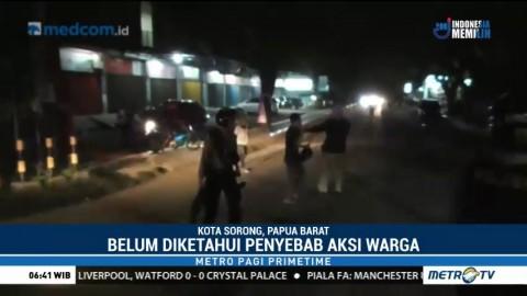 Puluhan Warga Diduga akan Gelar Keributan di Depan Mapolres Sorong Kota
