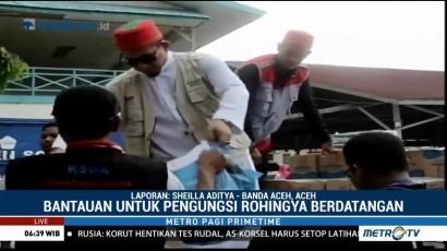 Bantuan Terus Berdatangan untuk Imigran Rohingya di Aceh