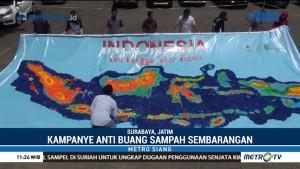 Hari Bumi, Mahasiswa Universitas Surabaya Buat Peta Indonesia dari Tutup Botol