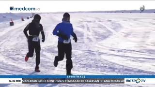 60 Peserta Ikut Lomba Maraton di Kutub Utara