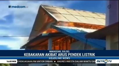 Satu Gedung Pesantren Pondok Madinah Makassar Terbakar