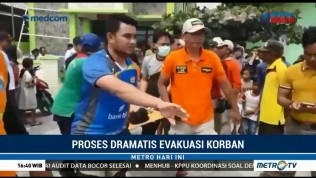 Evakuasi Korban Ledakan Kapal Dishub Berlangsung Dramatis