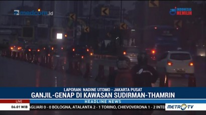 Hari Ini, Ganjil Genap di Sudirman-Thamrin Dimulai Pukul 06.00 WIB