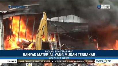 Gudang Karet di Padang Ludes Terbakar