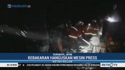 Gudang Produksi Tutup Minuman Kaleng di Surabaya Terbakar