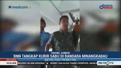 Bawa Sabu, Penumpang di Bandara Minangkabau Dibekuk BNN