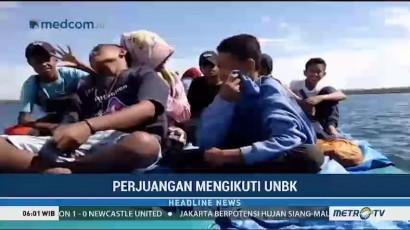 Pelajar di Sorong Naik Perahu Selama 8 Jam Demi UNBK