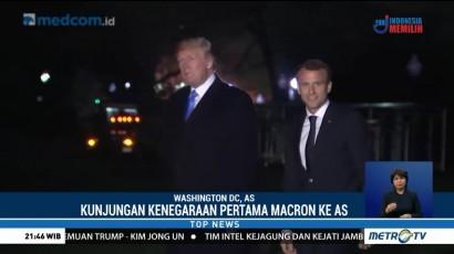 Trump dan Macron Bertemu di Gedung Putih