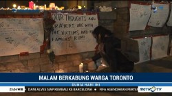 Lilin Duka pada Aksi Malam Berkabung Warga Kanada