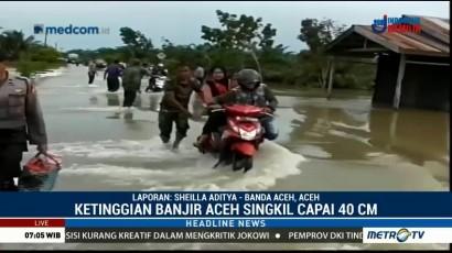 Banjir Landa Aceh Singkil, Lalin Jalan Provinsi Lumpuh