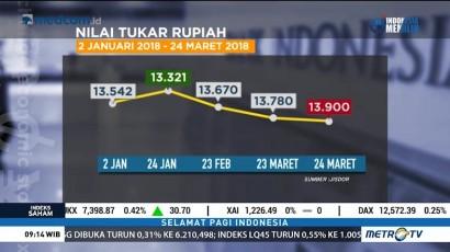 Nilai Tukar Rupiah di Pasar Spot Mulai Menguat