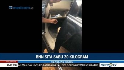 BNN Gagalkan Penyelundupan Sabu di Palembang