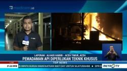 Api di Sumur Minyak Aceh Timur Belum Padam