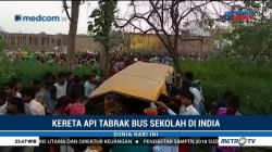 Kereta Api Tabrak Bus Sekolah di India, 13 Tewas