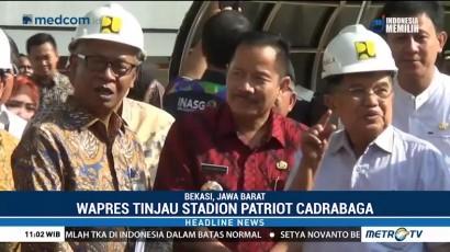 JK Tinjau Kesiapan Venue Asian Games di Bekasi
