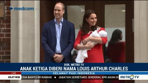 Louis Arthur Charles, Nama Anak Ketiga Pangeran William dan Kate Middleton