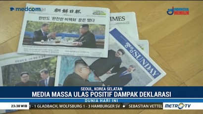 Dunia Sambut Positif Perdamaian Dua Korea