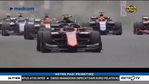 Sean Gelael Tampil Gemilang di Feature Race F2 GP Azerbaijan