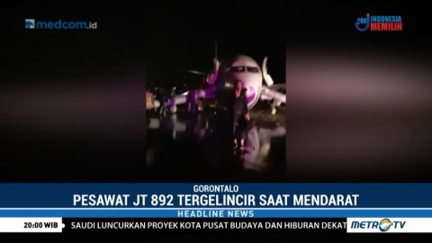 Pesawat Lion Air Tergelincir saat Mendarat di Bandara Gorontalo