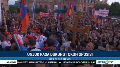 Ribuan Orang Dukung Pemimpin Oposisi Jadi Perdana Menteri Armenia