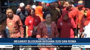 Blusukan Megawati, Menteri Susi, dan Risma