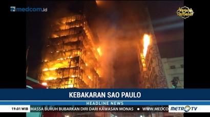 Bangunan Runtuh Akibat Kebakaran di Sao Paulo