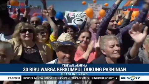 30 Ribu Warga Armenia Berkumpul Dukung Nikol Pashinian