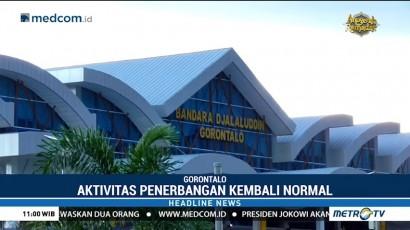 Bandara Gorontalo Kembali Beroperasi Normal