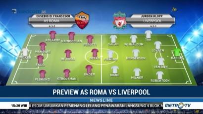 Perkiraan Formasi AS Roma vs Liverpool