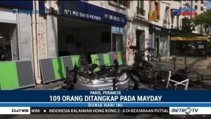 109 Orang Diangkap Atas Kerusuhan Peringatan Hari Buruh di Paris