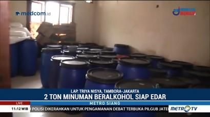 Polisi Bongkar Industri Rumahan Ciu di Tambora