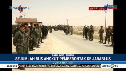 Pemberontak Dievakuasi dari Damaskus ke Utara Suriah