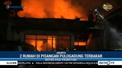 Dua Rumah di Pisangan Lama Ludes Terbakar