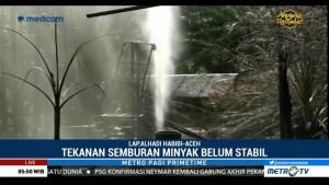 Tekanan Semburan Minyak dari Sumur Ilegal di Aceh Belum Stabil