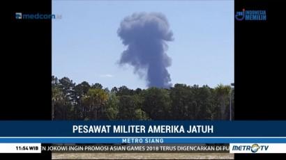 Pesawat Kargo Militer AS Jatuh saat Latihan