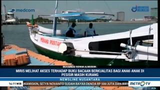 Perahu Pustaka Beri Bacaan Berkualitas Bagi Anak Pesisir