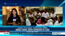 Jokowi Ajak Anak-Anak Bermain Permainan Tradisional di Istana