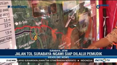 Jalan Tol Surabaya-Ngawi Siap Dilalui Pemudik