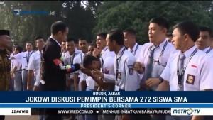 Jokowi Diskusi Soal Pemimpin Bersama 272 Siswa SMA