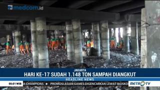 1.148 Ton Sampah Telah Diangkut dari Kolong Tol Tanjung Priok