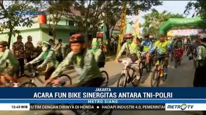 TNI-Polri Ajak Masyarakat Gemar Berolahraga Lewat Fun Bike