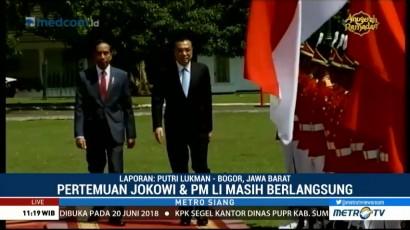 Jokowi Terima Kunjungan PM Tiongkok di Istana Bogor