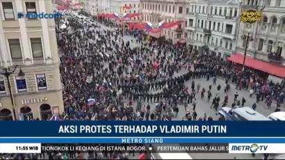 Demo Massal Protes Pemerintahan Vladimir Putin Berlangsung di Rusia