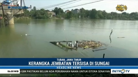 Perbaikan Jembatan Widang Terkendala Sisa Kerangka