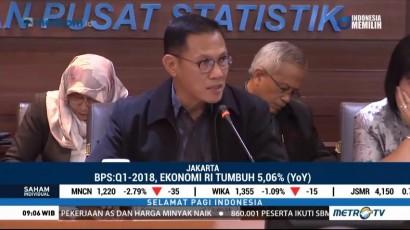 BPS Catat Ekonomi RI di Q1 2018 Tumbuh 5,06%