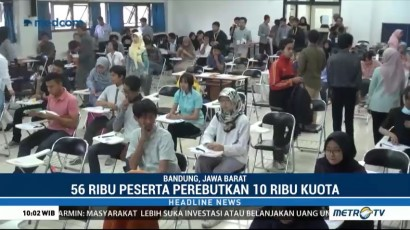 Peserta SBMPTN 2018 di Bandung Capai 56 Ribu Orang
