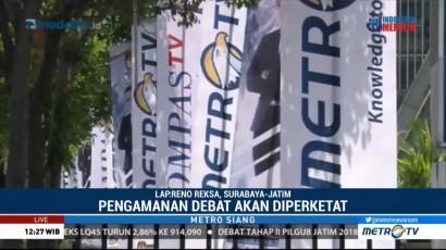 Pengamanan Debat Publik Kedua Pilgub Jatim Diperketat