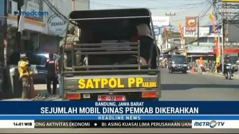 Mobil Dinas Pemkab Angkut Penumpang Terlantar di Kabupaten Bandung