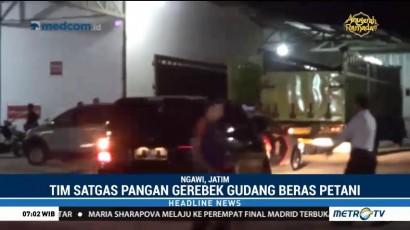 Polisi Gerebek Gudang Pengoplosan Beras di Ngawi