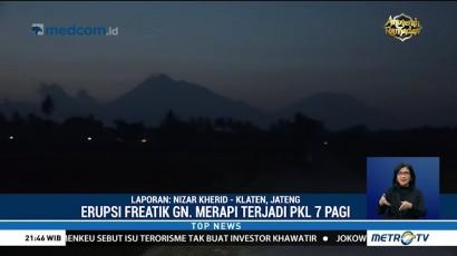 Aktivitas Gunung Merapi Kembali Normal Pascaerupsi Freatik